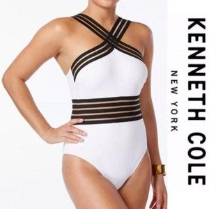 Kenneth Cole Illusions One Piece Swimsuit Size Lg